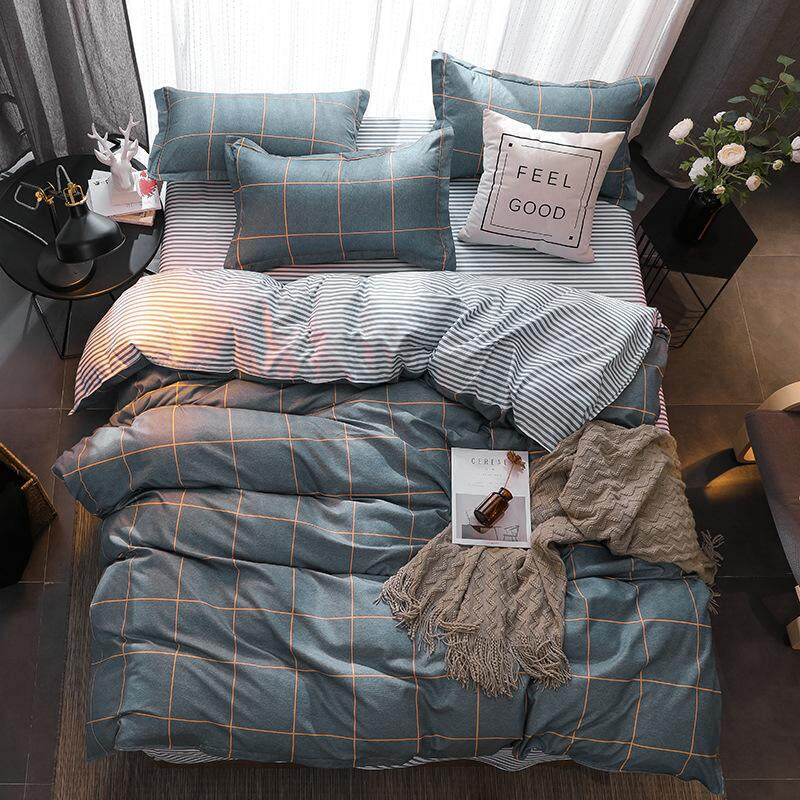 Spring/Summer Style Cotton Bedding Sets Super Soft Owl Twin Full Queen King Nordic Style Comforter Duvet Cover Bed Sheet Pillowcase Stripe Plaid Check Fancy Suiting Bedding Sets Siêu Khuyến Mại