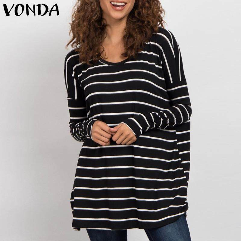 Vonda 2018 เสื้อคลุมท้องเสื้อแขนสั้น Batwing เสื้อลายพิมพ์ Blusas Femininas.