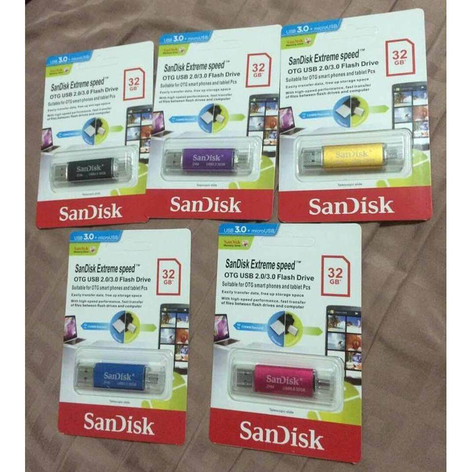 32gb 64gb Sandisk Pendrive For Mobile Android And Laptop Promotion Usb Otg 32 Gb Ultra Dual Drive 30 End Soon