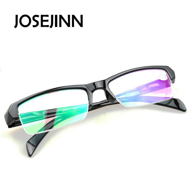 fashion semi frame myopia glasses shortsighted eyeglasses for men women  with -200 degreeSGD7.40 719805f965