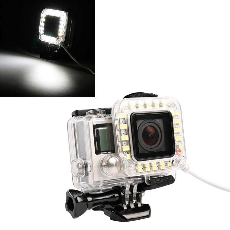 USB Cincin Lensa Kilat LED Menembak Cahaya Malam untuk GoPro HERO4/3 +-Intl