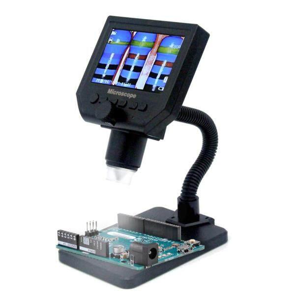 Kính hiển vi G600 cầm tay màn hình kỹ thuật số LCD 4.3 inch có độ sáng cao 8 bóng đèn Led, sạc pin Li-ion có thể hoạt động trong suốt 6 giờ - INTL