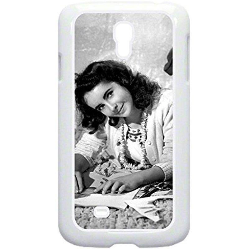 Baru Elizabeth Taylor-TM Plastik Putih Keras Case With Lembut Batin Lapisan Karet Hitam To Samsung Galaksi S4 I9500 dibuat Di Amerika Serikat-Internasional