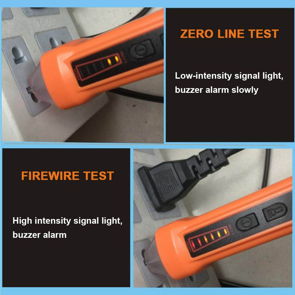 Features Ybc Non Contact Voltage Tester Pen With Led Flashlight 90 Circuit Detail Gambar 1000v Ac Detector Electric Test Meter Terbaru