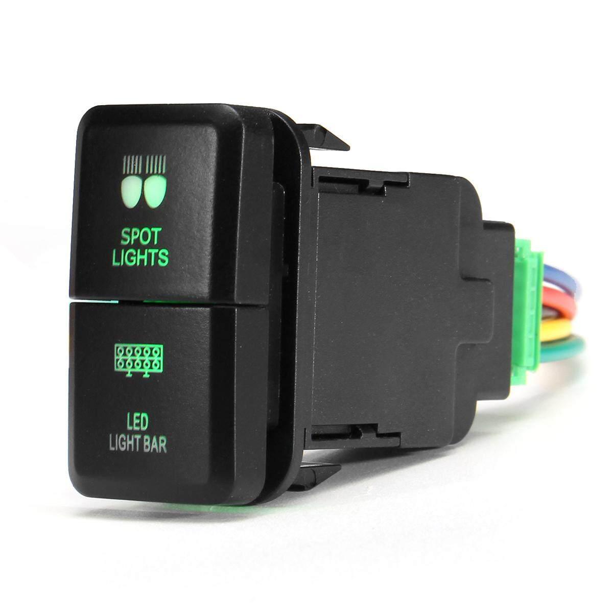 Features Push Switch Led Fog Driving Light Bar Fit Toyota Car Hilux Detail Gambar Landcruiser Prado 120 Spotled Terbaru
