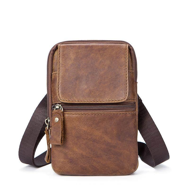 c4e72711b01 Genuine Leather Man Bag Retro Single Shoulder Slant Bag Crazy Horse Leather  Casual Bag 1024