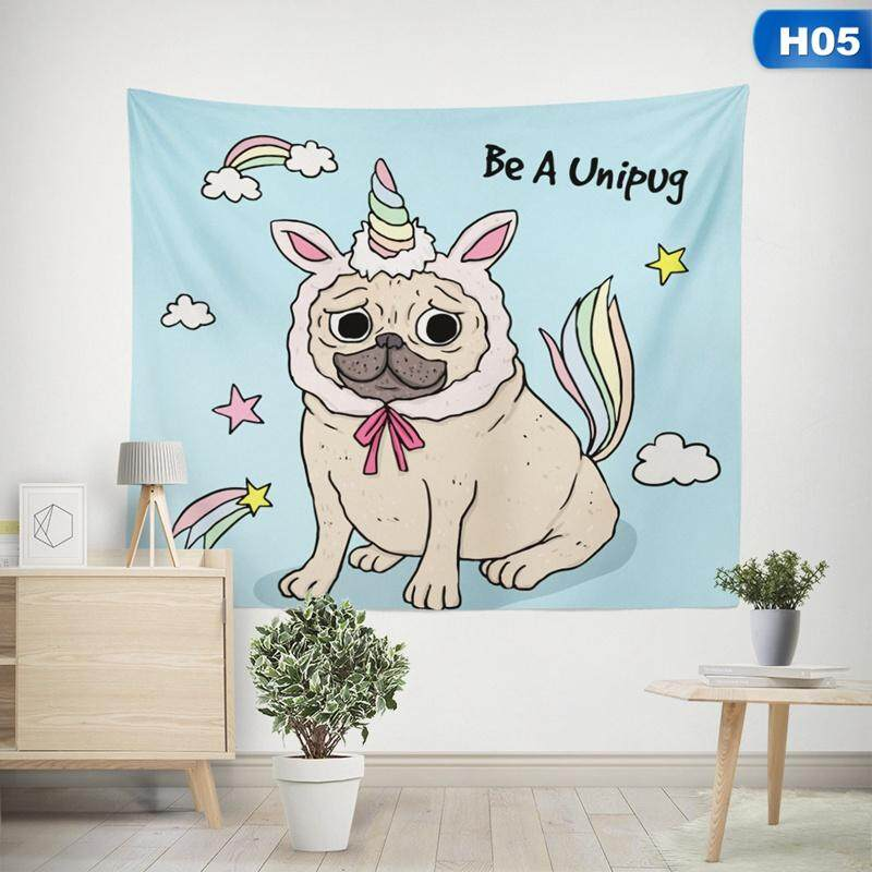 BZY Wall Hanging Tapestry Cute Unicorn Animal Hippie Mandala Yoga Mat House Decorative Tapestries Beach Towel H05
