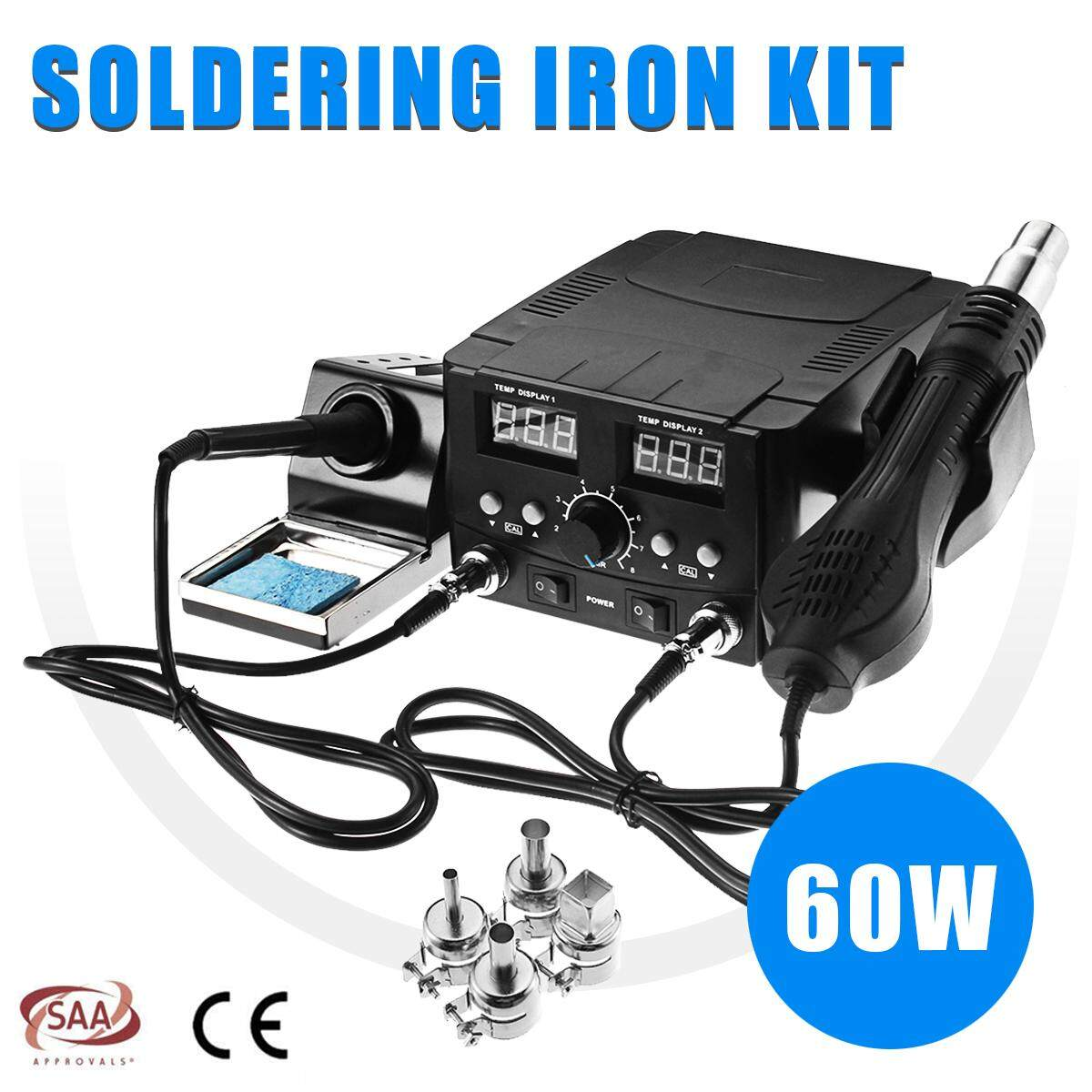 2 In1 Digital Hot Air Rework Soldering Station Soldering Iron Solder Rework Station Smd Desoldering Intl China