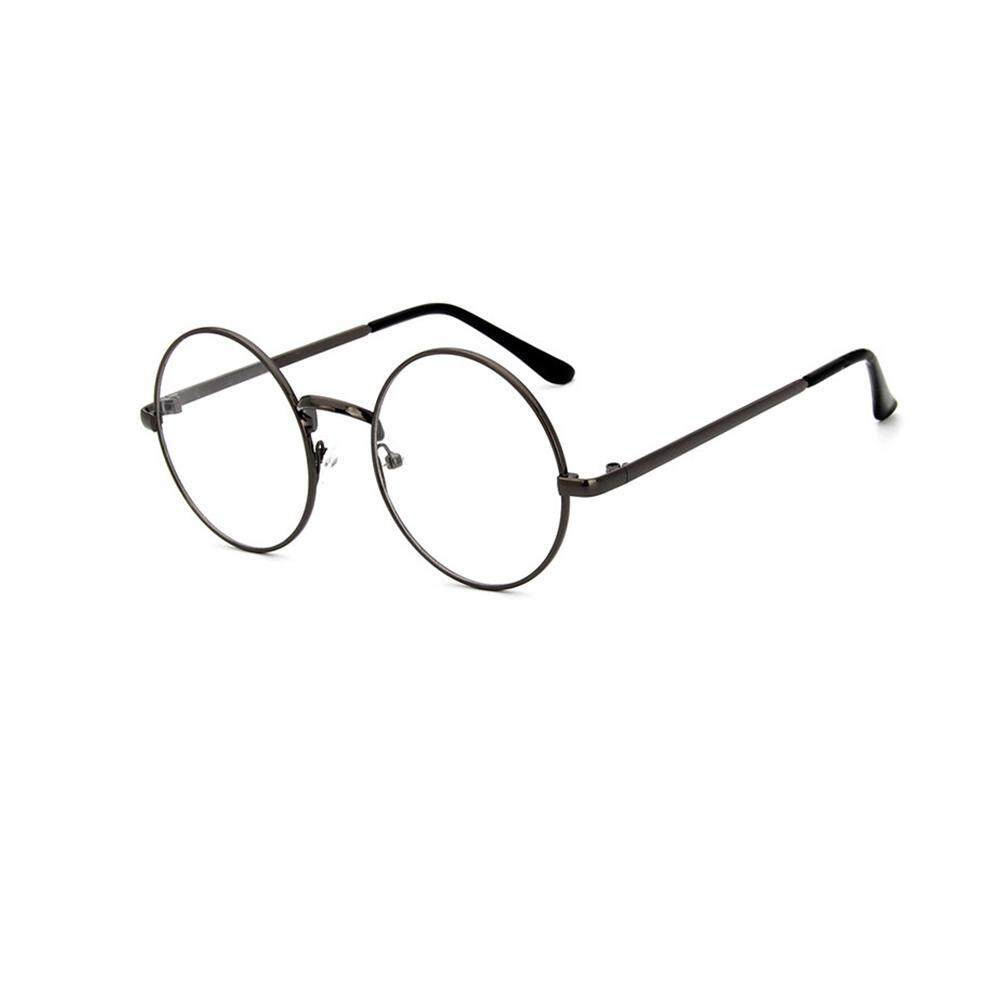 Unisex กรอบโลหะกลมเลนส์ใสวินเทจ Retro แว่นตาแฟชั่น By Liveon367.