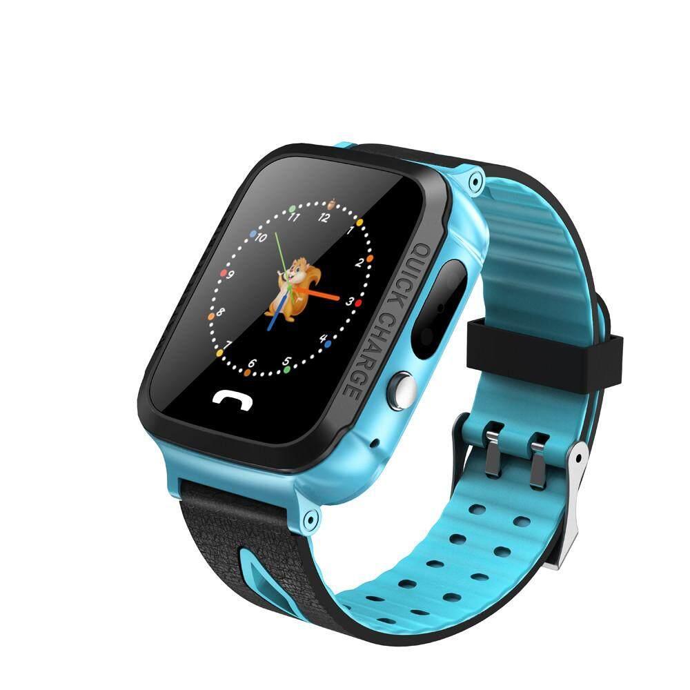 Jam Tangan Pintar Anak Pelacak GPS IP67 Kebugaran Kedap Air Watch Sos dengan Kamera