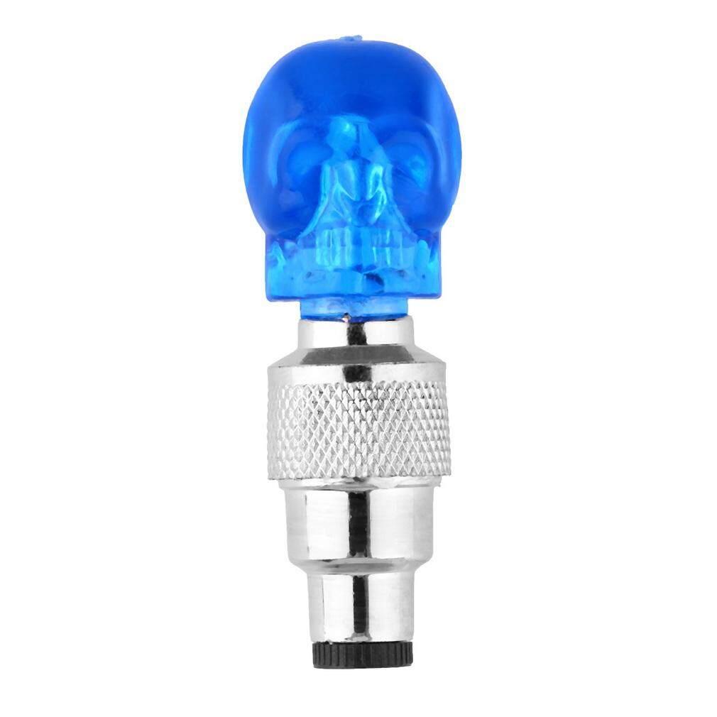Detail Gambar Era Tengkorak Bentuk Katup Tutup LED Ringan Roda Ban Lampu untuk Mobil Sepeda Motor Sepeda-Internasional Terbaru