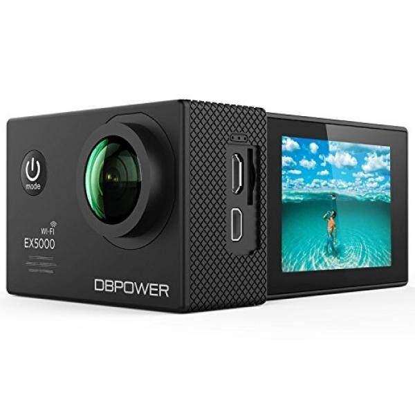 DBPOWER EX5000 Action Camera 14MP 1080P HD WiFi Waterproof Sports Cam 2 Inch LCD Screen 170 Degree Wide Angle Lens 98ft Underwater DV Camcorder