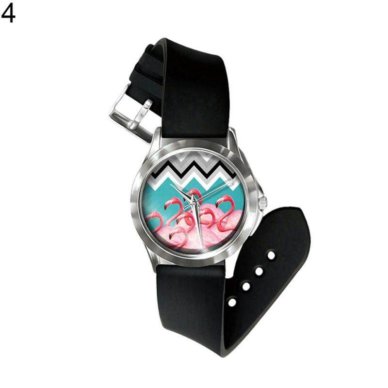 BODHI Creative Flamingo Pattern Band Men Women Quartz Analog Wrist Watch Jewelry Gift (4#) Malaysia