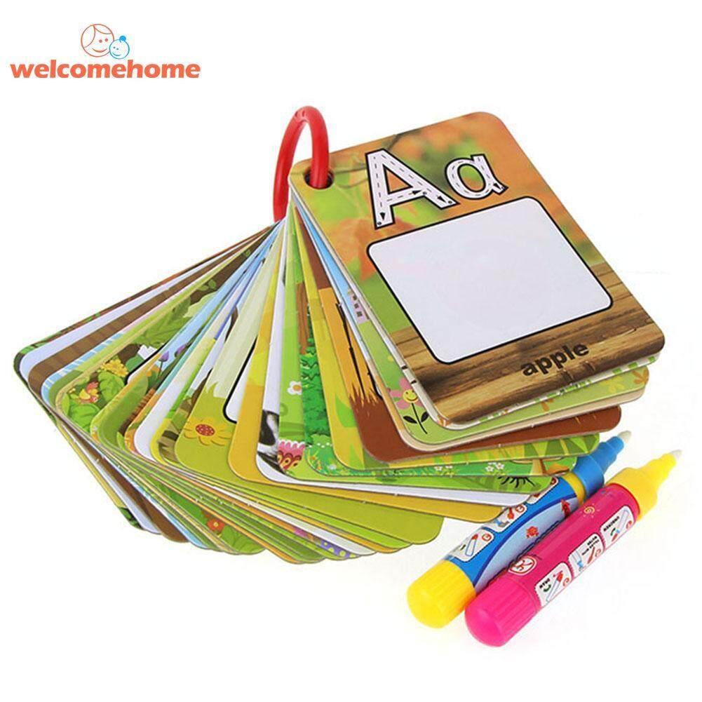 Air Gambar 26 Bahasa Inggris Belajar Sihir Kartu Dengan 2 Pena Kartu Surat Lukisan Babi Hutan Mainan Edukatif Untuk Anak-Anak-Internasional By Welcomehome.
