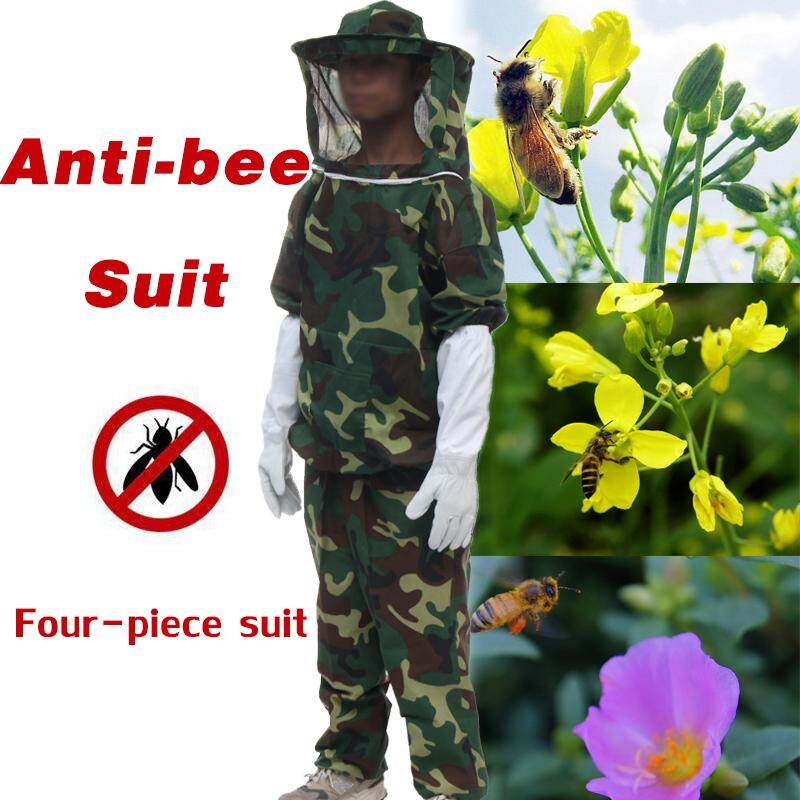 Hình ảnh Anti Bee Suit Tops Pants Hat Gloves Camo Beekeeping Protective Clothing Outdoor
