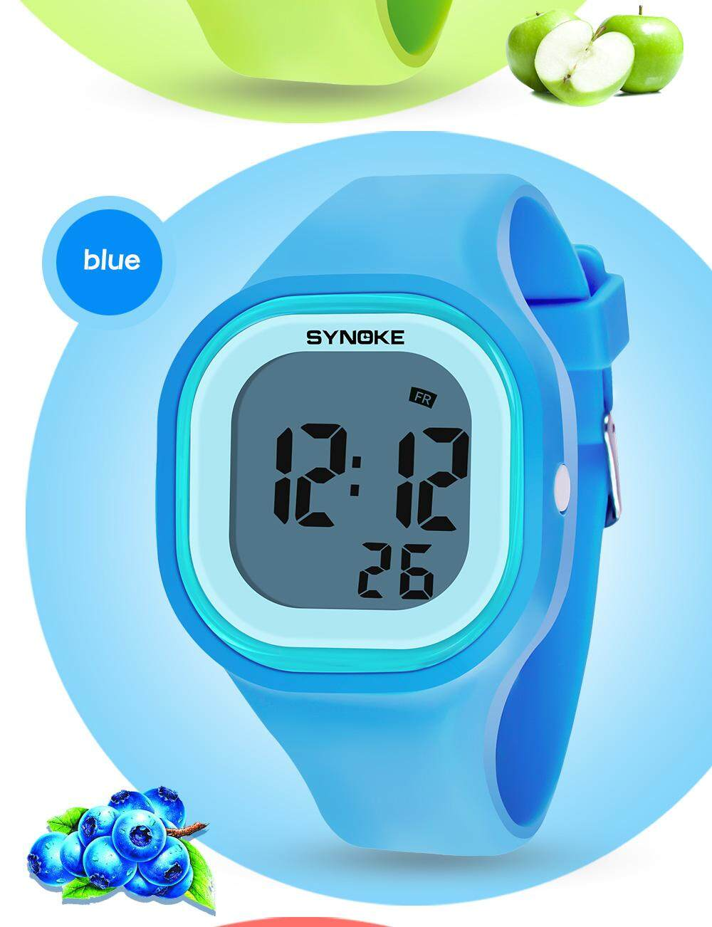 SYNOKE Brand Watch jelly multi-function removable colorful luminous 30 meters waterproof silicone led Digital