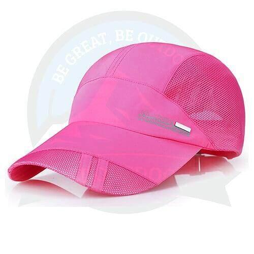 [LOCAL DELIVERY] Running Cap Athletic Outdoor Cap For Men and Women Outdoor Activities Cap - Pink
