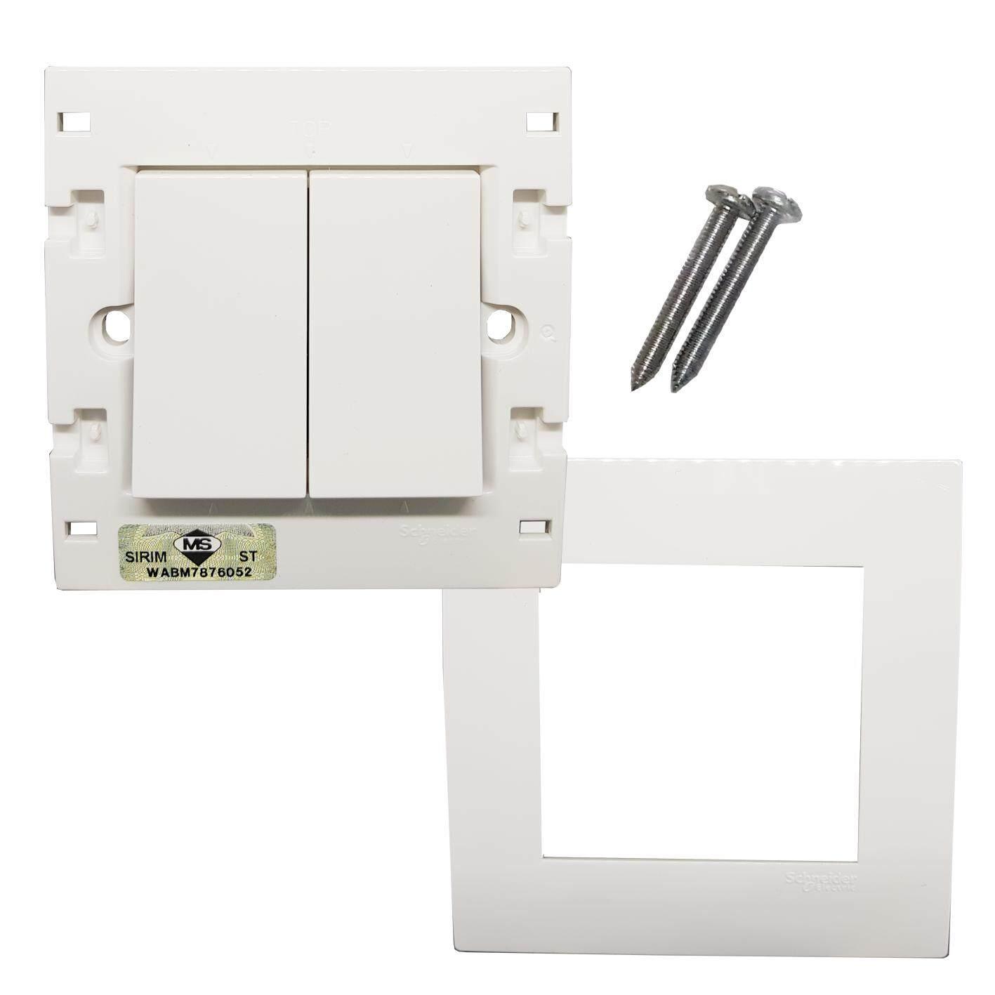Mcb Schneider Electric 10a 1phase Domae Berkualitas Cek Harga Rcbo Slim 1p N Vivace Kb32bp We G11 250v 2 Gang Press Switch White 3