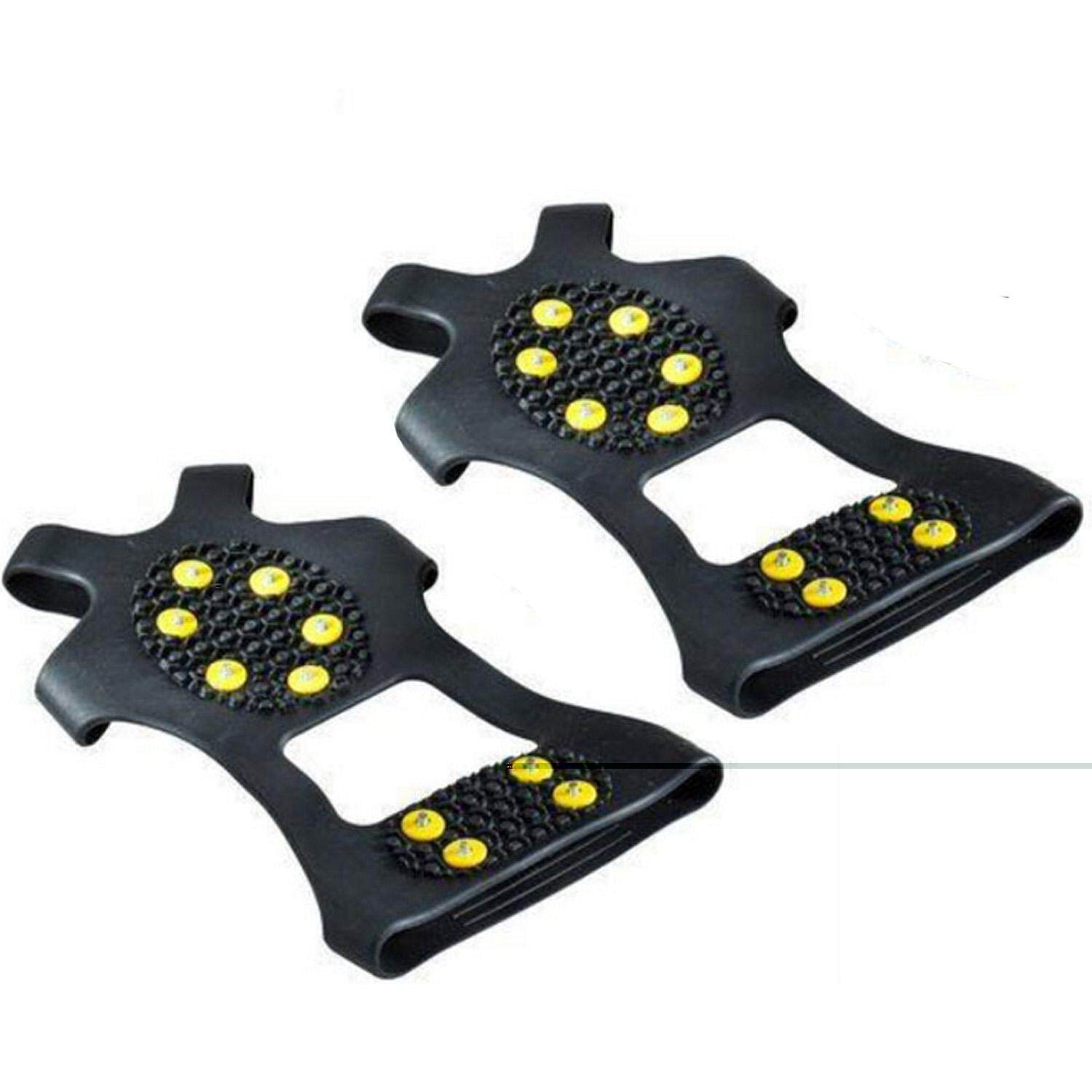 10-Stud Universal Ice Snow Cleat Grips Traction Nonskid Over Shoe Boot Footwear Crampons Studs Spikes Size S By Elek.