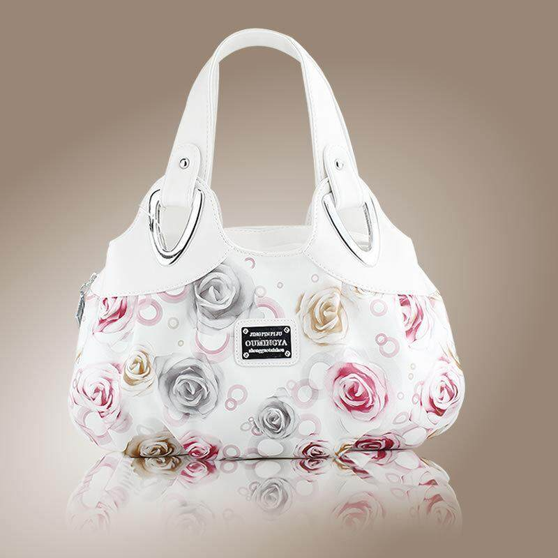 uniwood Europe and the United States Style Handbags Handbags Wholesale Roses Fashion Ladies Bags-white