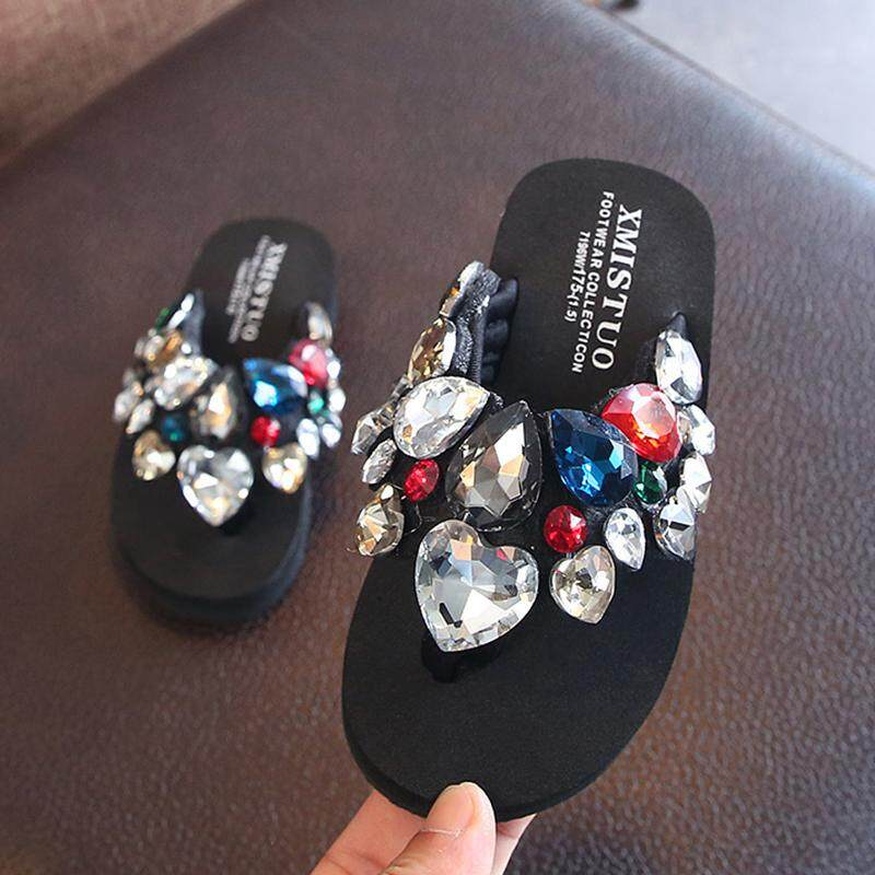 8226978fbd337 New Style out Children Sandals women Summer Man-made Diamond Fashion Flip-flops  Flip