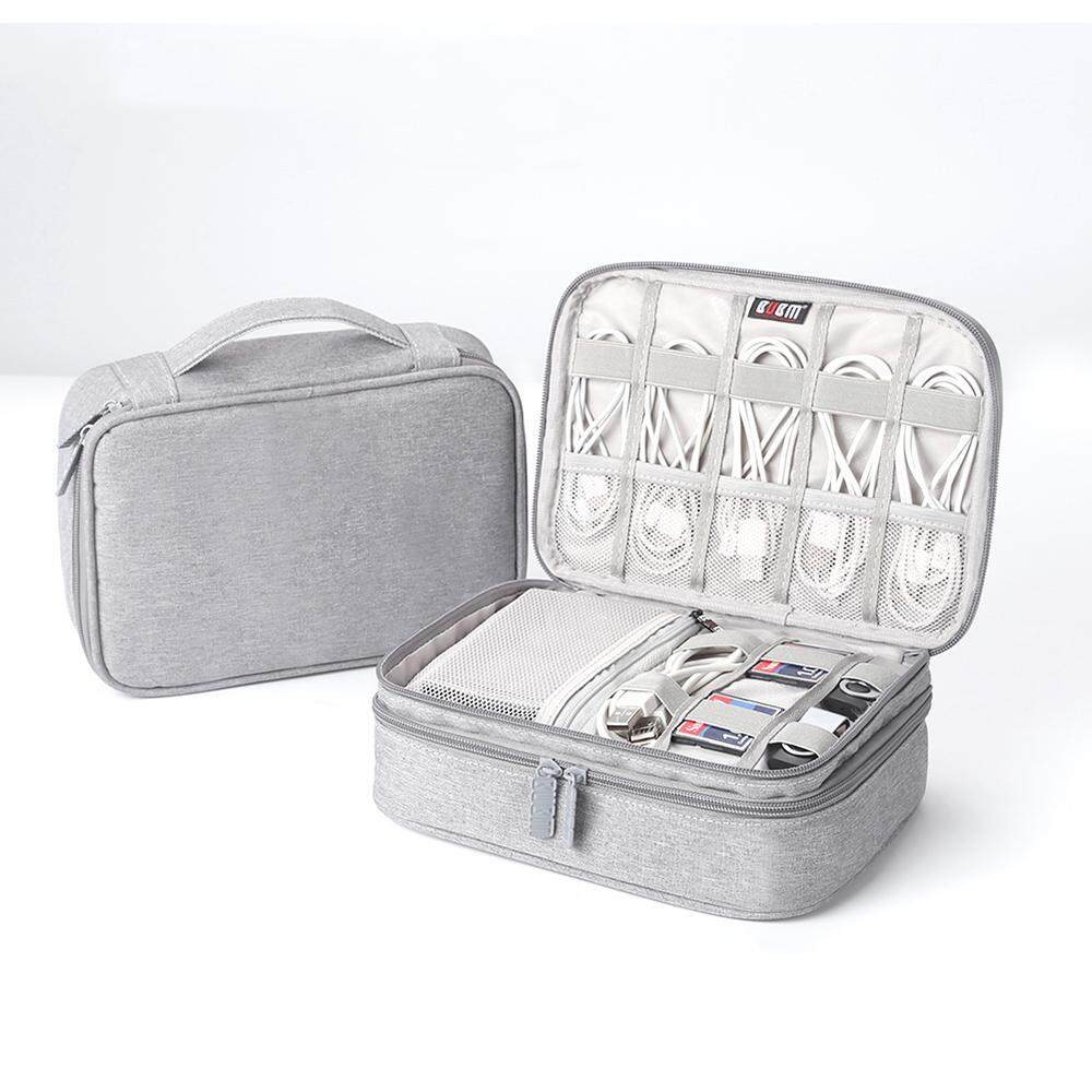Portable Electronic Accessories Travel case,Cable Organizer Bag Gear Carry Bag for Cables,USB Flash Drive,etc. Fit for iPad