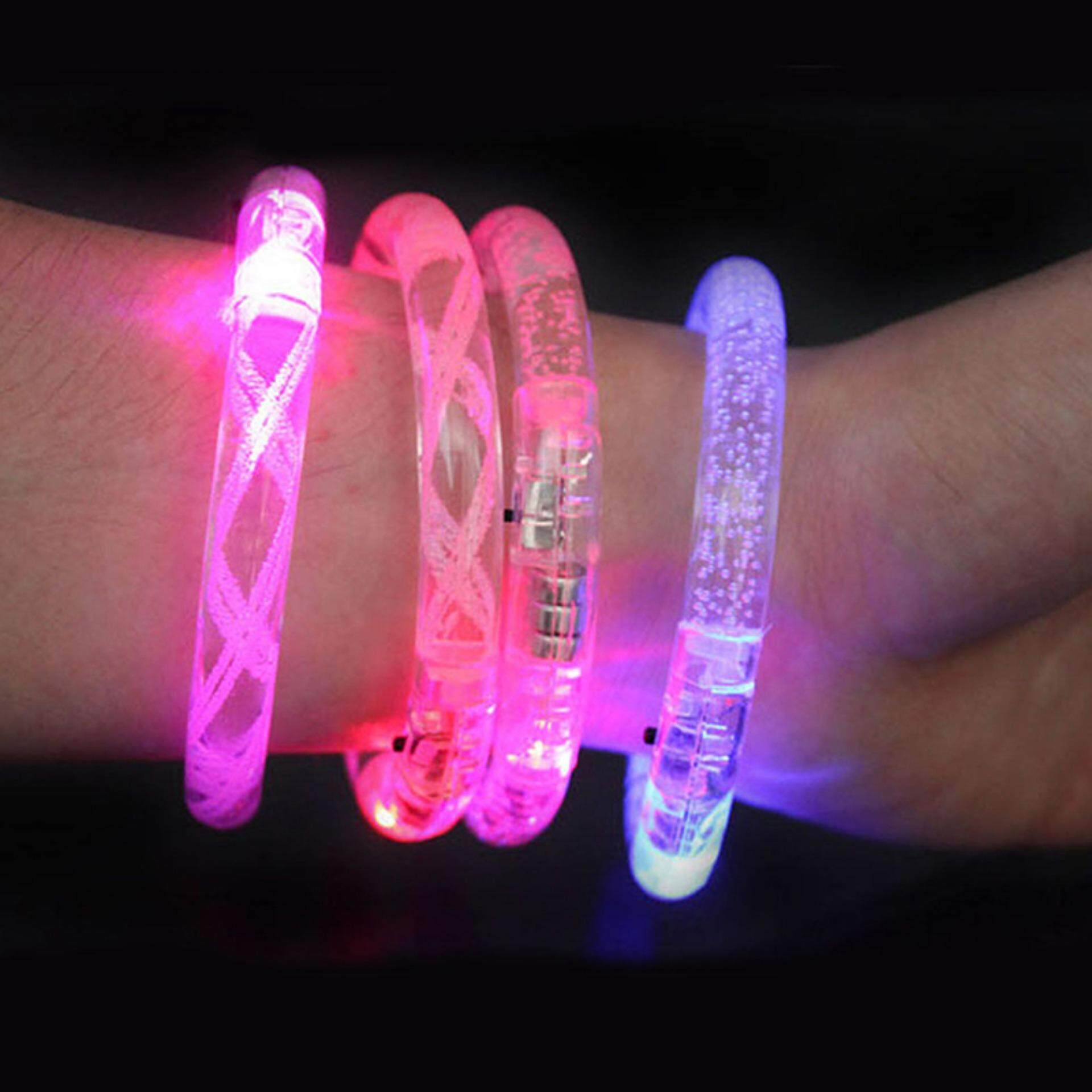 Unisex Tombol Dikendalikan Suara Led Gelang Menyala Diaktifkan Cahaya Flash Bangle By Civilian Princess.