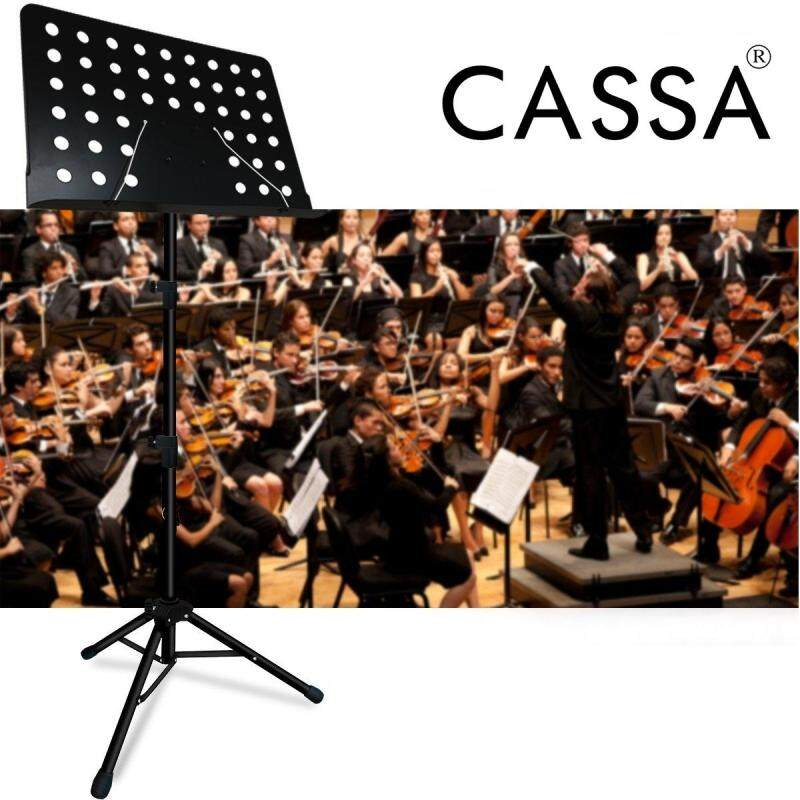 Cassa Luno Heavy Duty Music Stand for Orchestra, Conductor, Violin, Keyboard, Guitar, Ukulele & Food Menu (High Quality) Malaysia