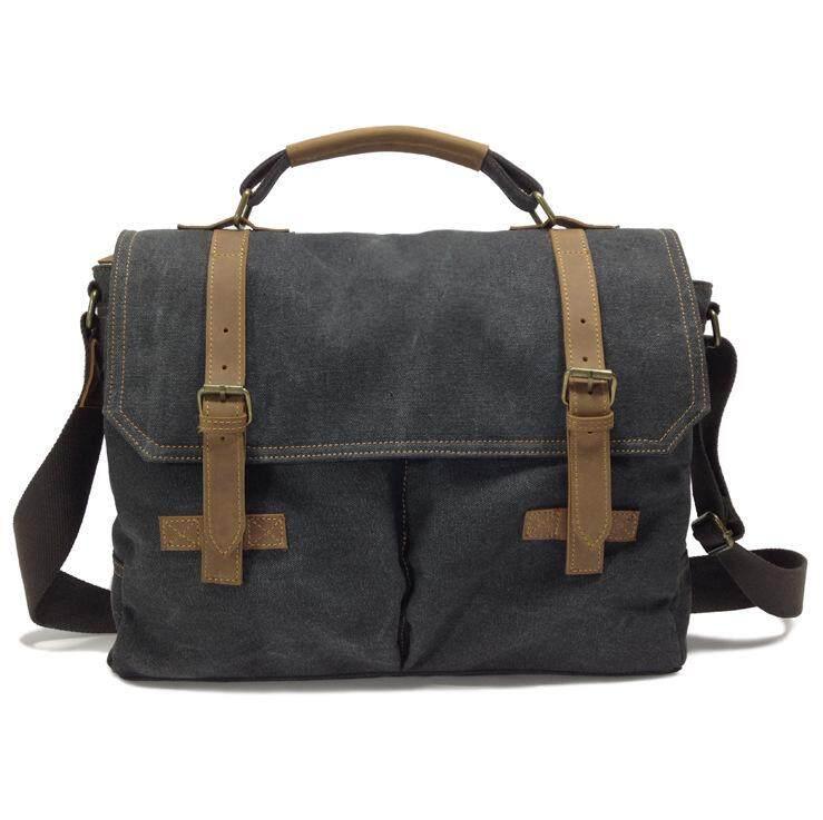 77aab4706 Vintage Canvas Messenger Bag Laptop Shoulder Bag School Bag Travel Bag