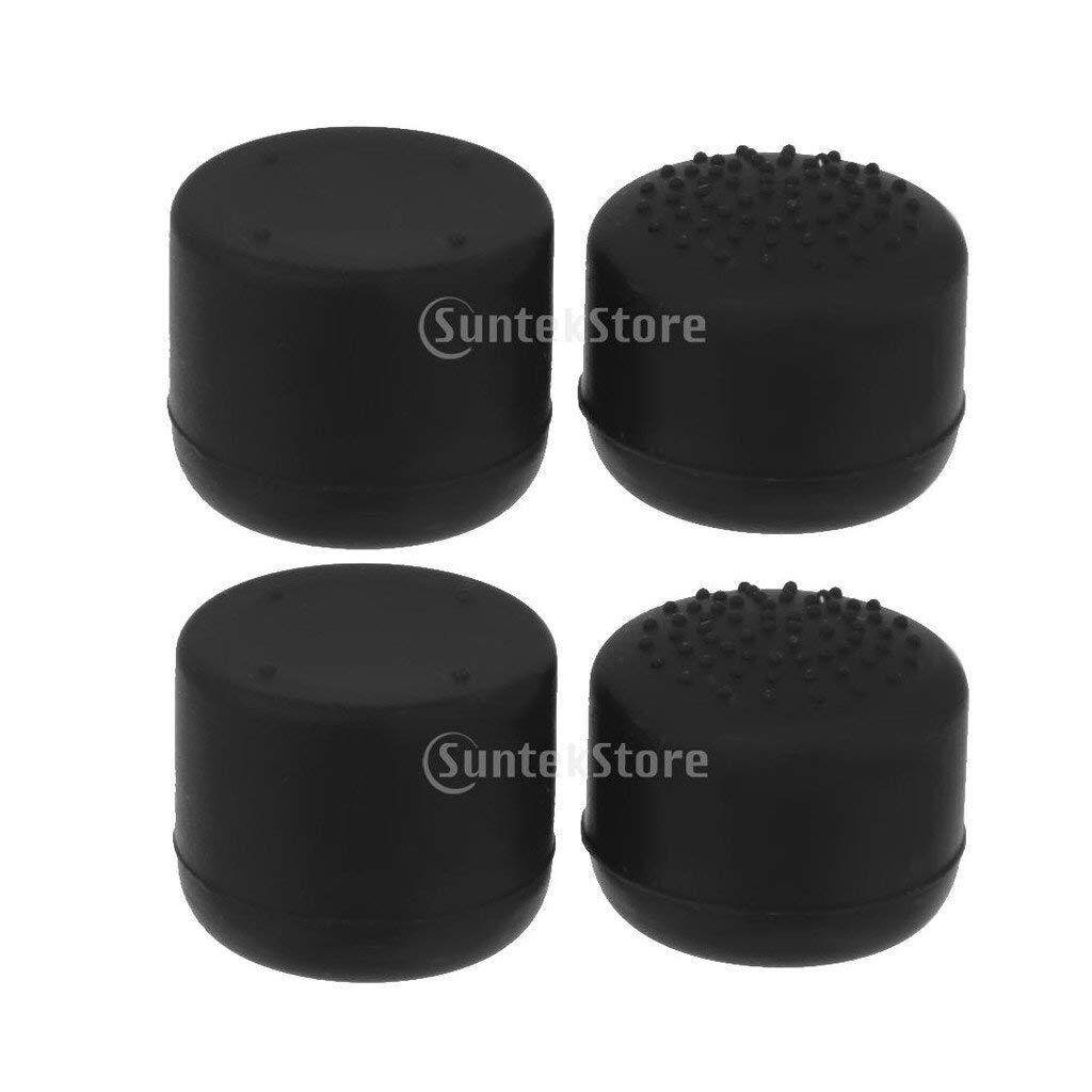 2 Pair Black Joystick Thumb Grip Caps Button Covers Extender for Sony PlayStation 4 PS4 Controller