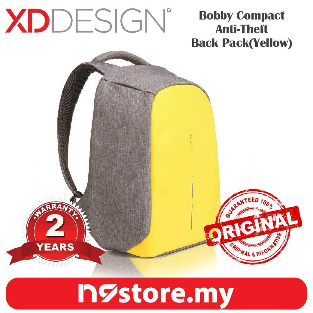 XD Design Bobby Compact Primrose Yellow Anti-Theft Cutproof Backpack