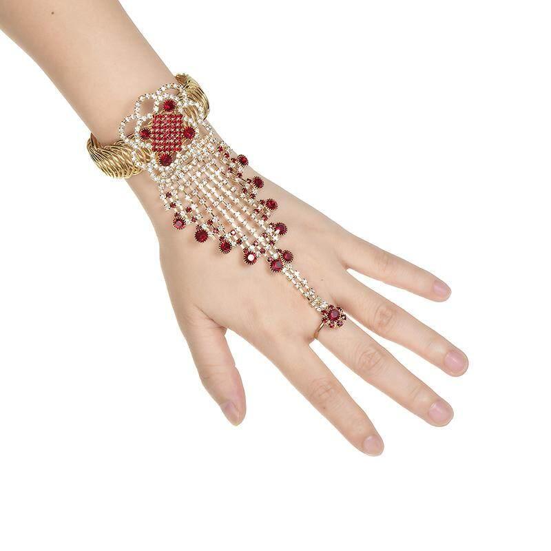 Gelang Wanita Gaun Tari Perhiasan Dengan Cincin Bohemian Eksotis Perhiasan Tari Perut Brecelet Rantai By Yidea Hongkong.