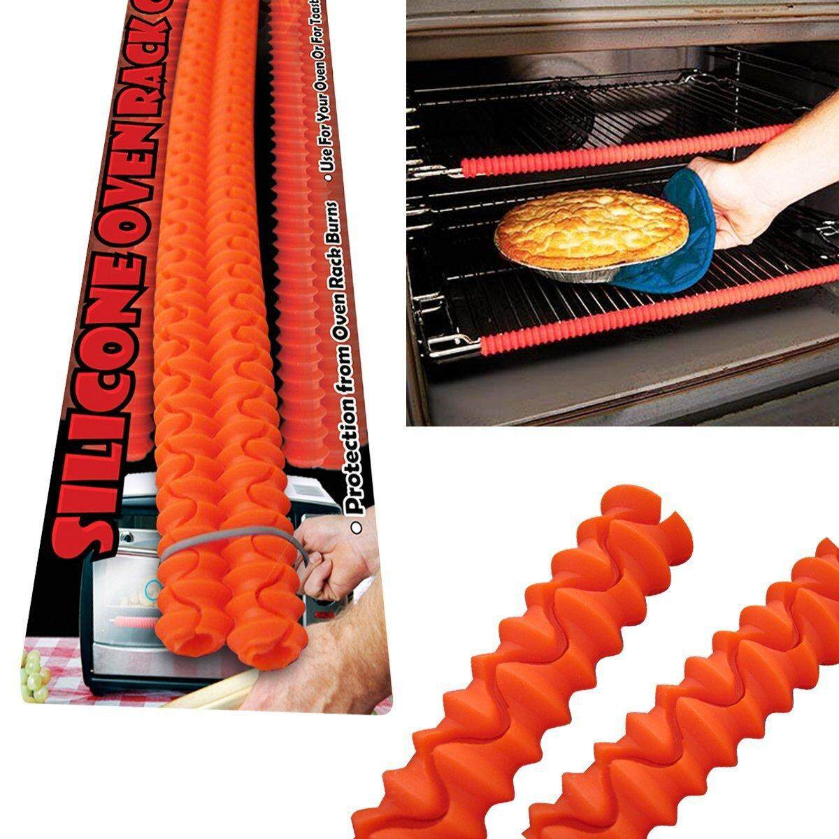 Honana Kc-020 Enipate Silicone Oven Rack Edge Guards Protector Clip Guard Baking & Pastry Tools Heat Resistant Red Avoid Burns By Moonbeam.