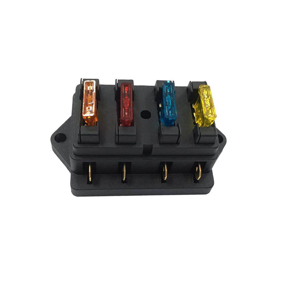 The Price Of 10 Way Blade Fuse Box Holder Blocks With Red Led Car Terminals 4 Vehicle Automotive Circuit Block Standard Fuses