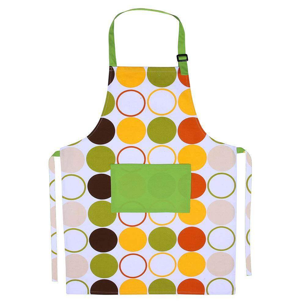 Adult Waterproof Anti Oil Apron Kitchen Bibs Household Cooking Accessories(Multicolor)-C -
