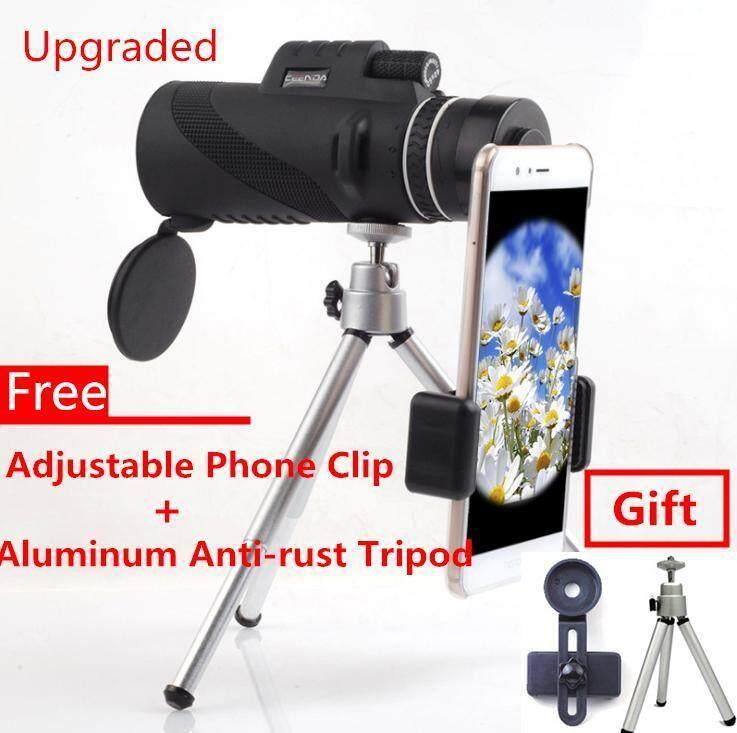 12X50 Zoom HD Optical Monocular Telescope Lens Mobile Phone Camera +High Quality Aluminum Tripod &