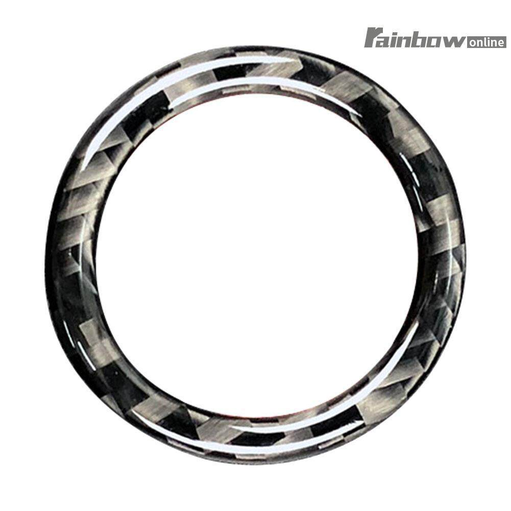 Carbon Fiber Car Engine Start Stop Button Ring Trim For Bmw E90 E92 E93 - Intl By Rainbowonline.