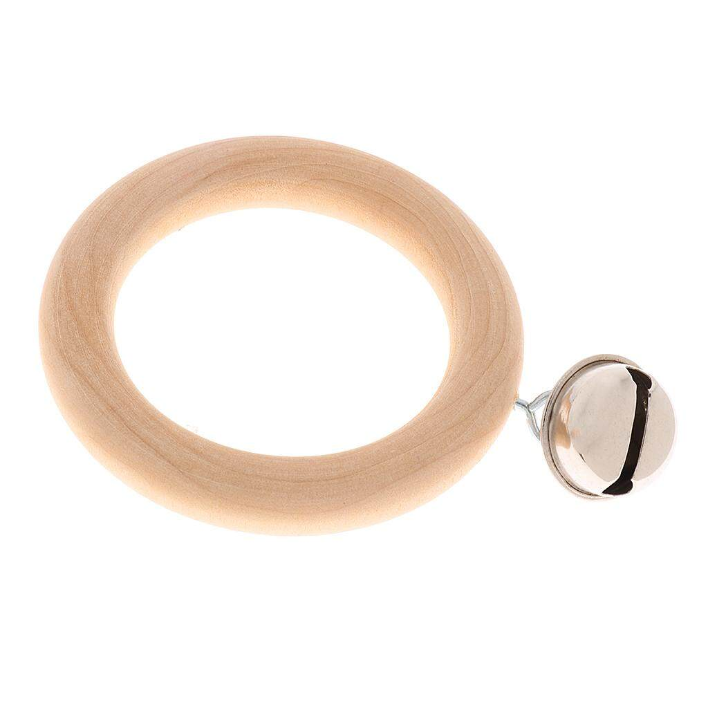 Miracle Shining Wooden Hand Shake Bell Ring Percussion Toys for Baby Grasp Training 1 Bell