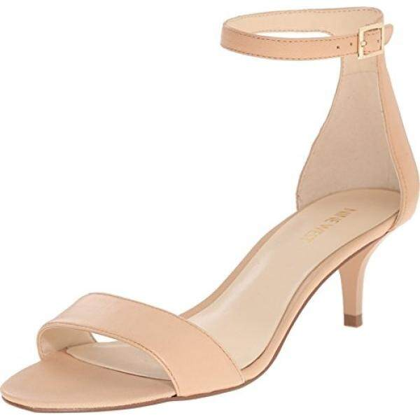 Nine West Womens Leisa Leather Heeled Dress Sandal, Natural Leather, US - intl
