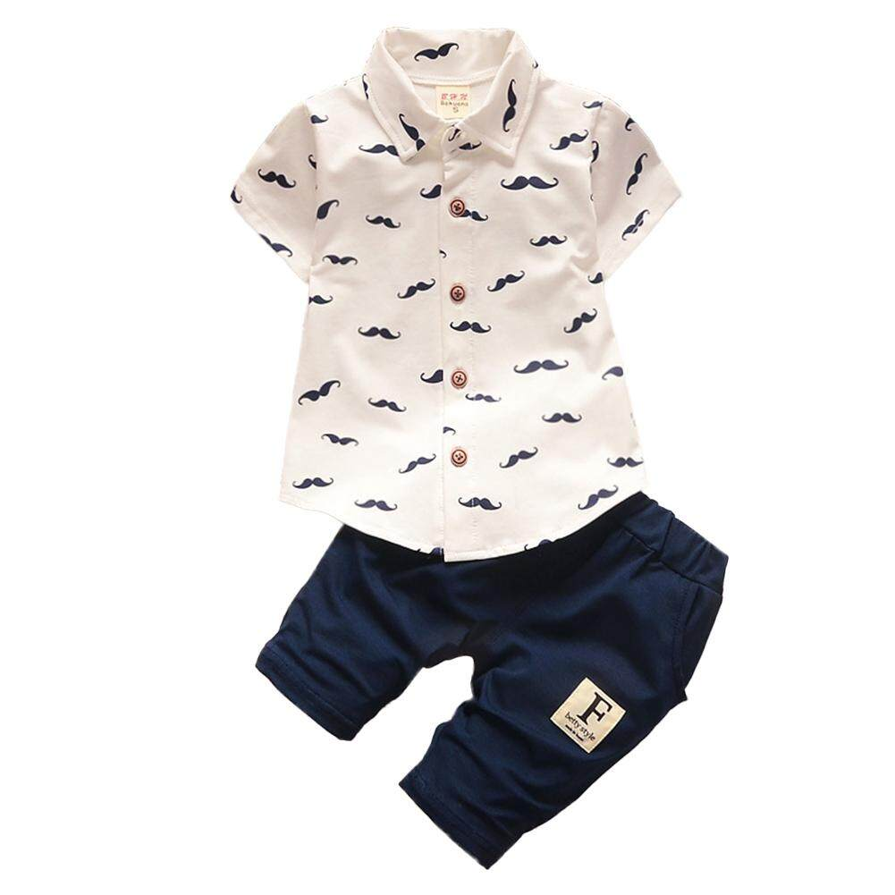 36560ea9 Veecome Baby Boys Beard Printing Clothes Suit Short Sleeve Shirt Tops +  Short Pants 2PCS/