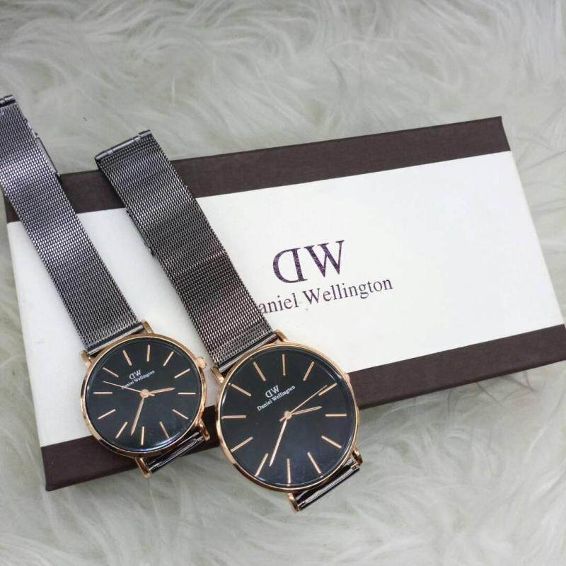 NEW CASUAL DW COUPLE WATCH SET GREY COLOUR Malaysia