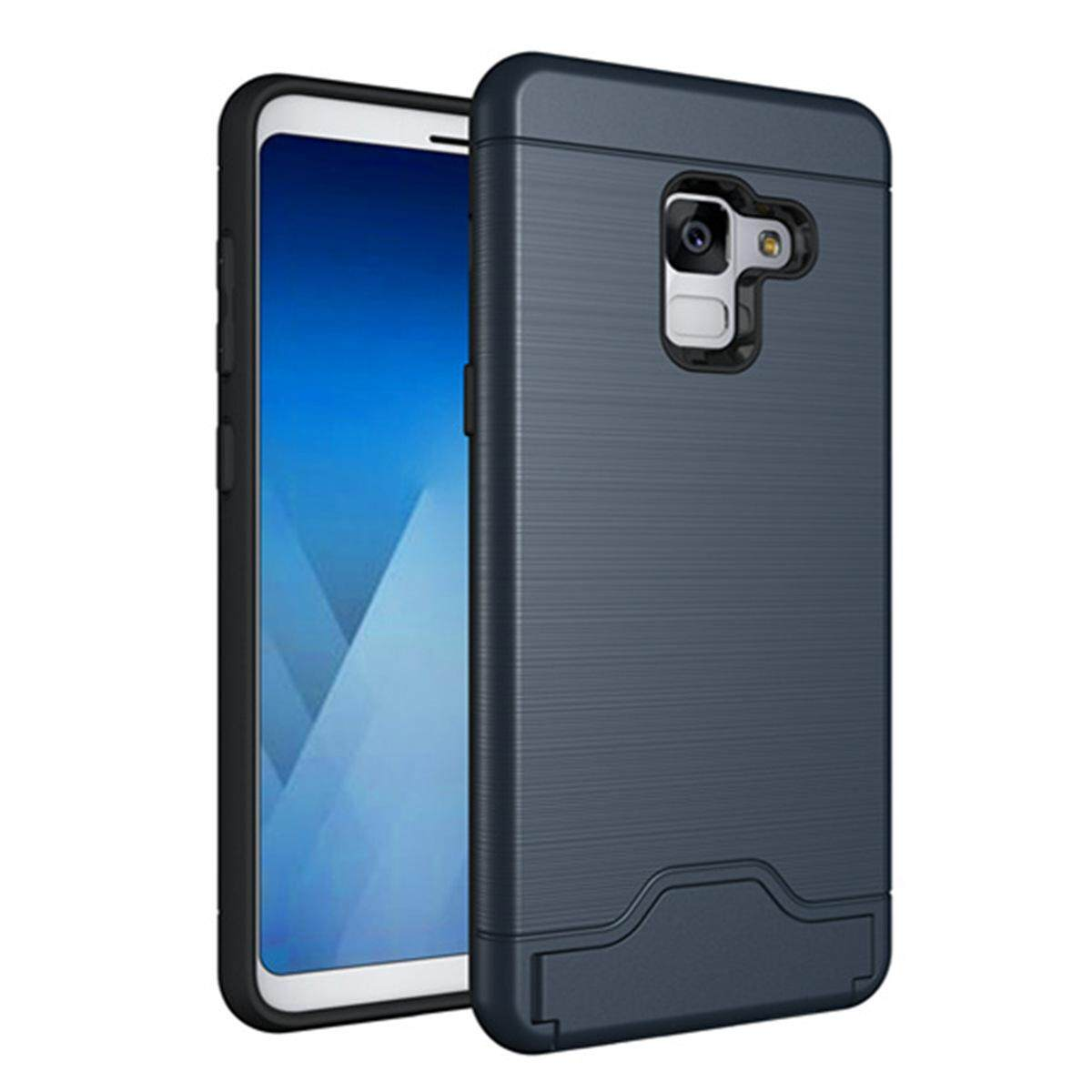 Hình ảnh for Samsung Galaxy A8(2018) Case [Hidden Card Slot] Hard PC + TPU Hybrid Back Armor Case Cover, with Cryptic Card Storage Slot, Skidproof, Minimalist - intl
