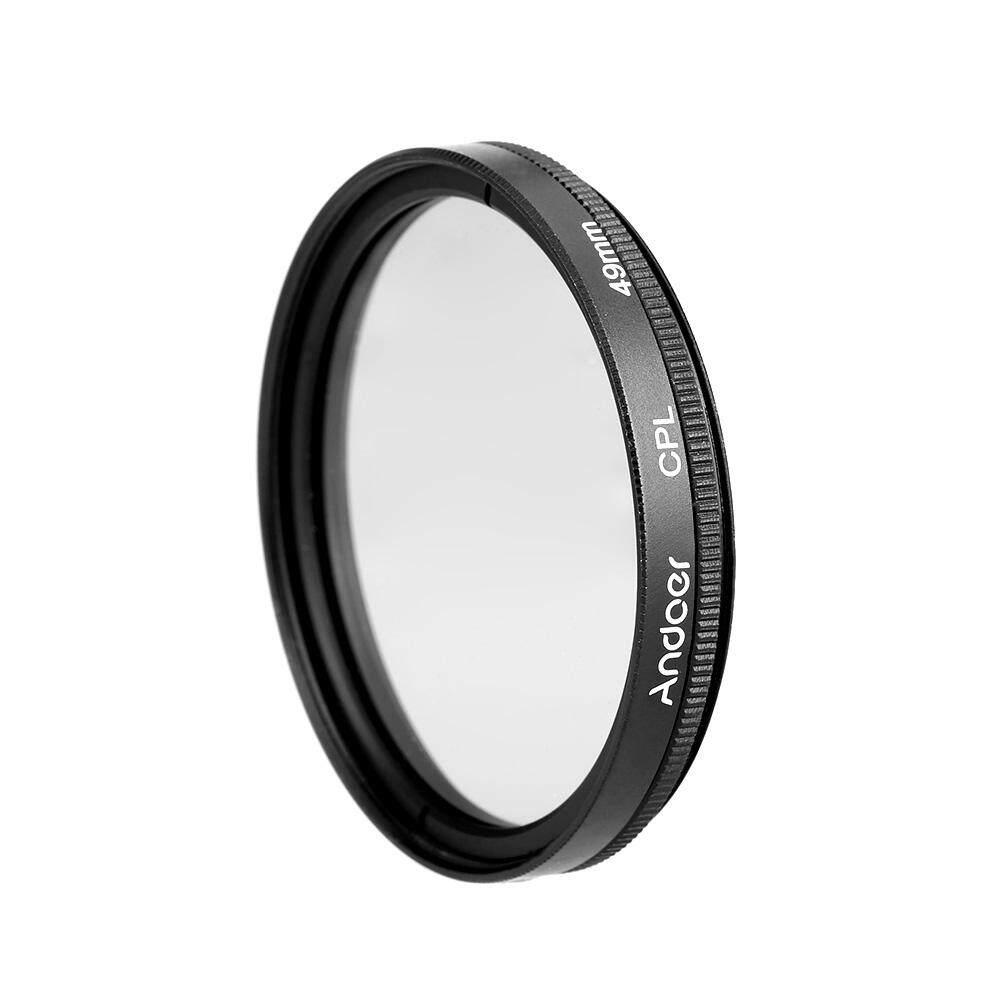Andoer 49 Mm Digital Slim Lingkaran CPL Polarizer Polarisasi Kaca Penyaring untuk Canon Nikon Sony DSLR Lensa Kamera-Intl
