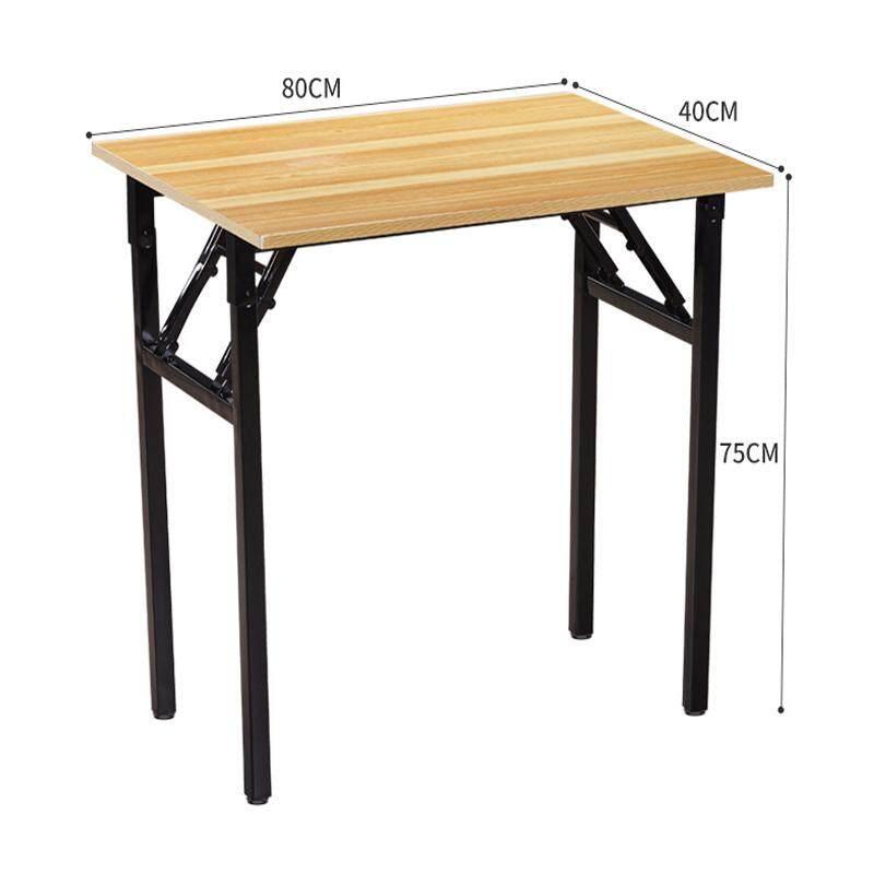 RuYiYu - Wood Top Folding Table, Wood Panel, Steel Frame, Snack Table Set,Drop-leaf Table, Folding Table, Drop-leaf Table,4 Person, 6 Person