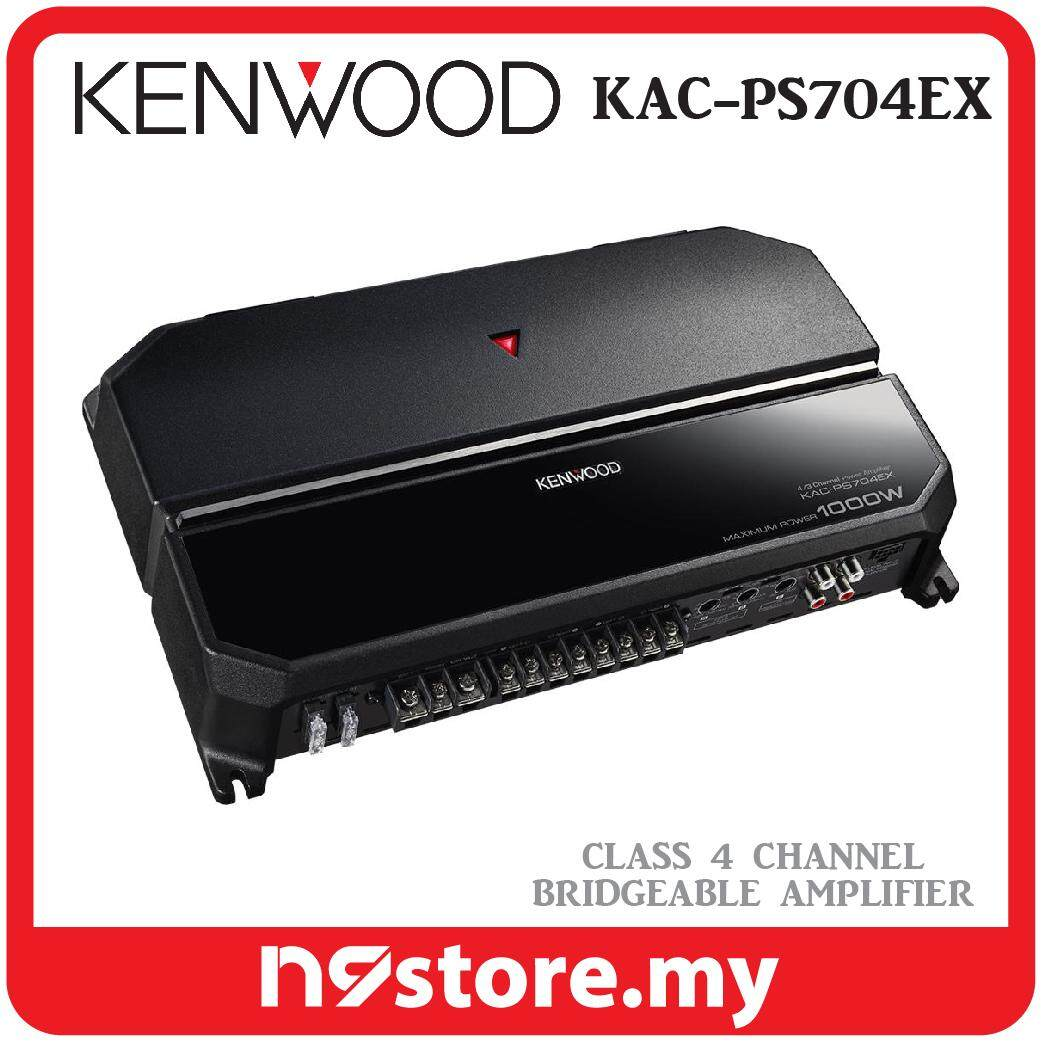 Kenwood KAC-PS704EX 4 Channel Bridgeable Amplifier 70W x 4 (4 OHMS) Car Stereo