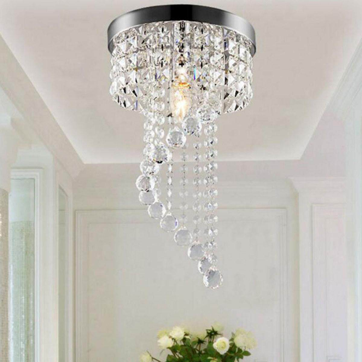 Modern LED Galaxy Spiral Crystal Chandelier Lamp Fixture Lighting Pendant Decor # 110V