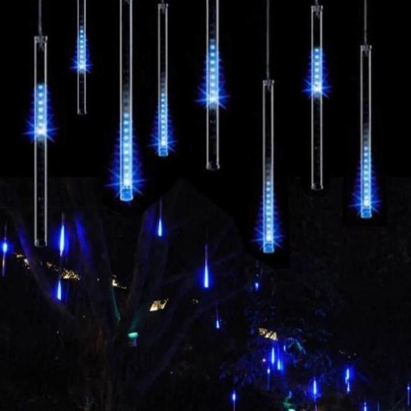 11.8 LED Meteor Shower Rain Tube String Lights Falling Star Christmas Outdoor Decoration Fairy Lamp Blue Cold Light - intl