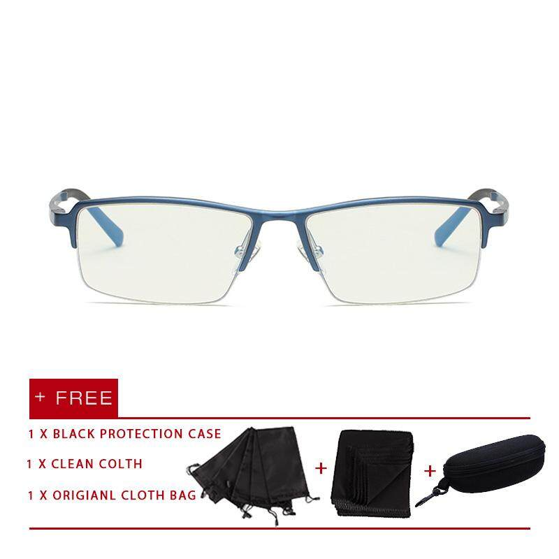 acbc8104d6 2018 New fashion men women eyewear eyeglasses aluminum magnesium Anti Blue Light  Glasses UV Spectacles flat