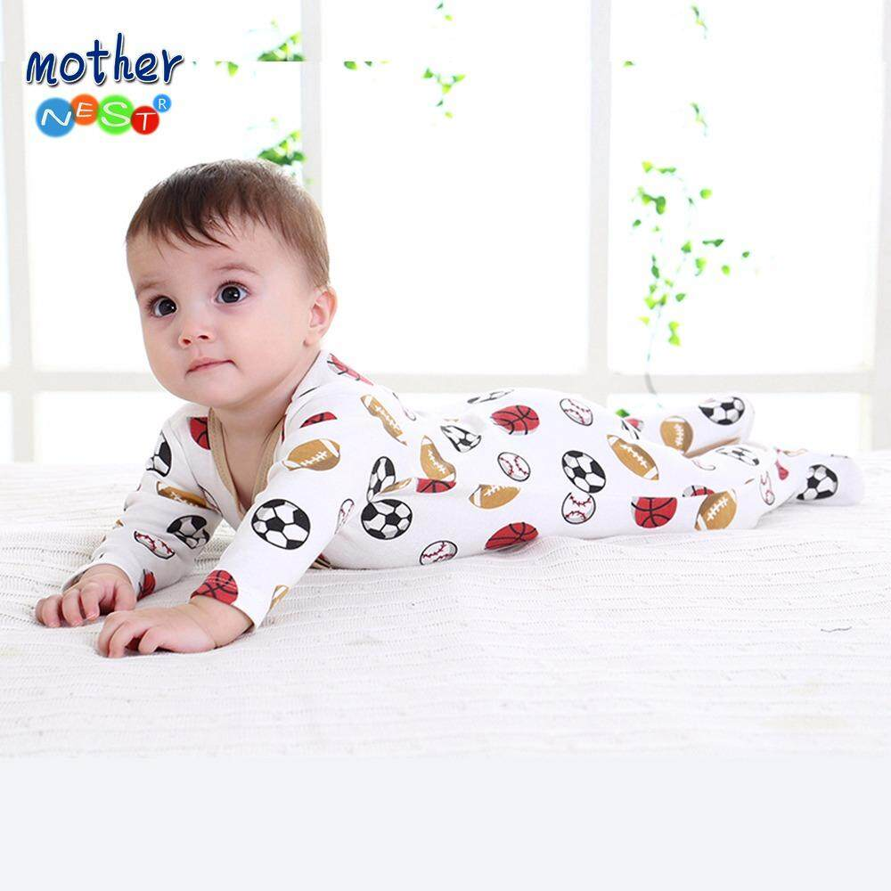 Mother Nest Brand Newborn Cotton Baby Boys Rompers Long Sleeves(ball games) - intl