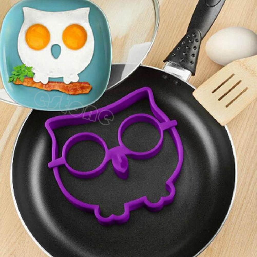 Sarapan Silikon Owl Goreng Telur Cetakan Kue Dadar Cincin Cetakan Telur Lucu Alat Masak